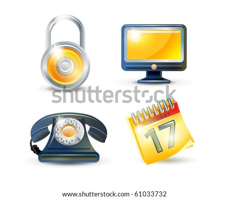 Set of four web icons