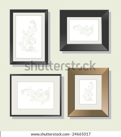 Set of frame for a photo