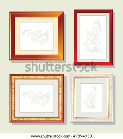 Set of frame for a photo - stock vector