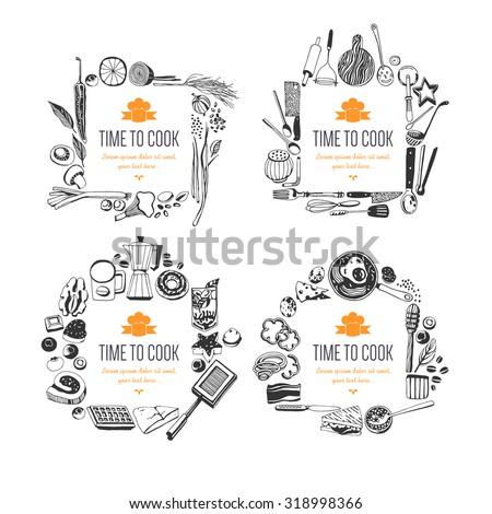 set of frames  doodle style