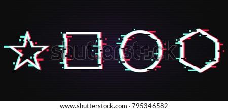 set of frames with glitch