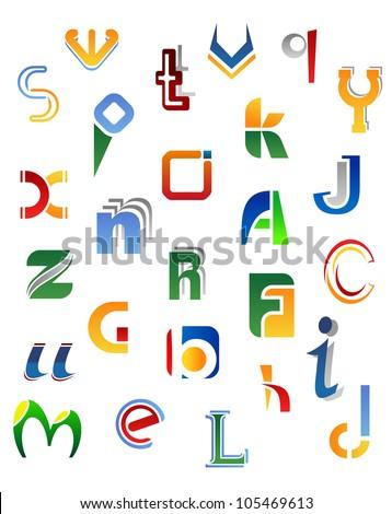 set of full alphabet symbols