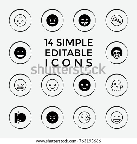 set of 14 funny filled and