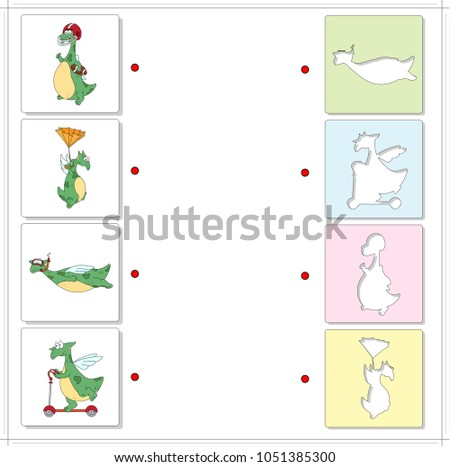 set of funny green dragons