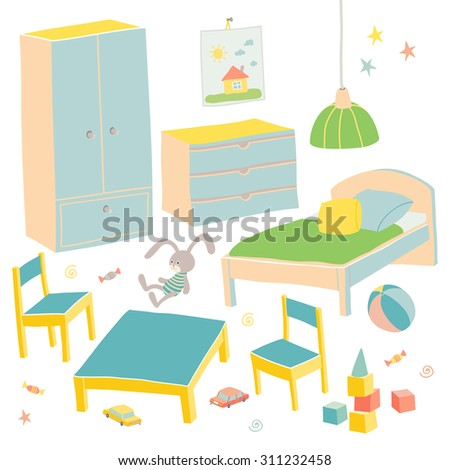 set of furniture for children