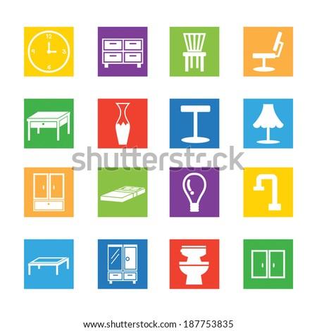 Set of furniture icon