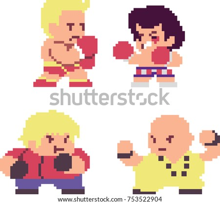 set of game fighters or boxers