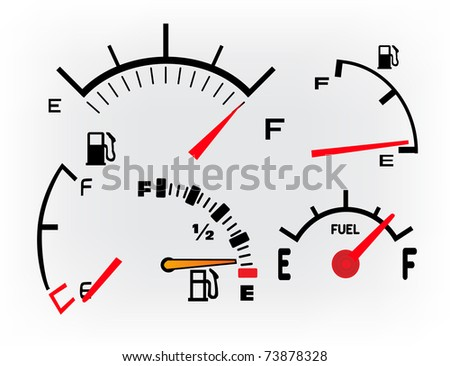 set of Gas Tank Illustration - stock vector
