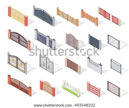 set of gates and fences vectors