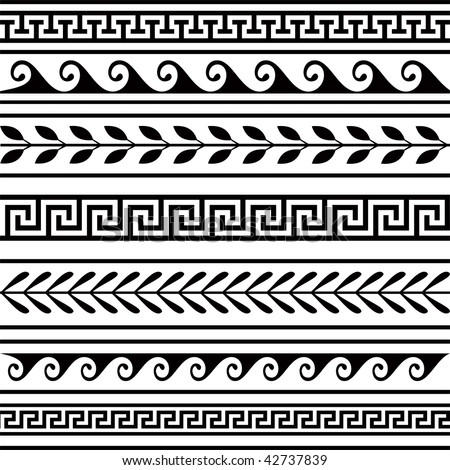 Set of geometric borders