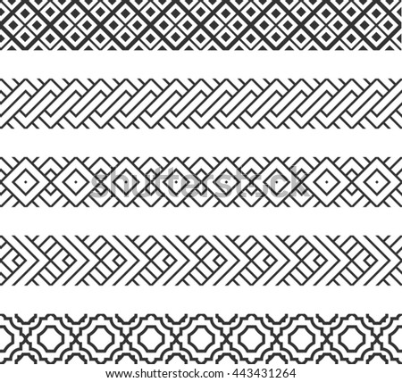 Set of geometric borders. #443431264