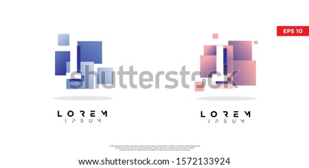 set of geometric initial letter