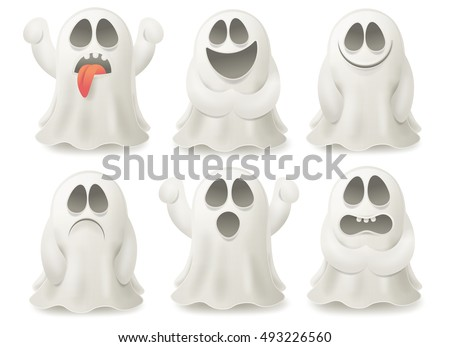set of ghost characters