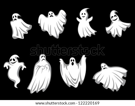 set of ghosts for halloween