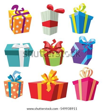set of gift boxes. present box