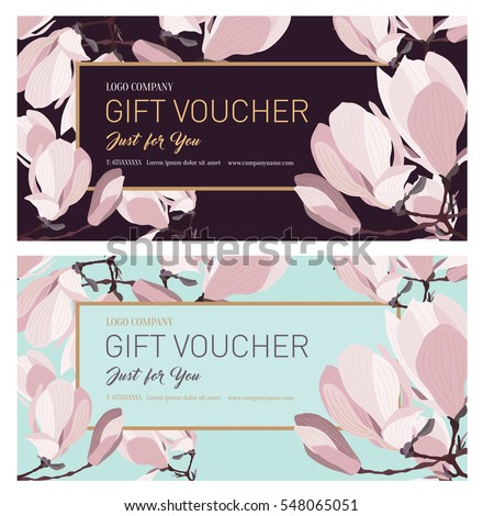 set of gift voucher.gift card....