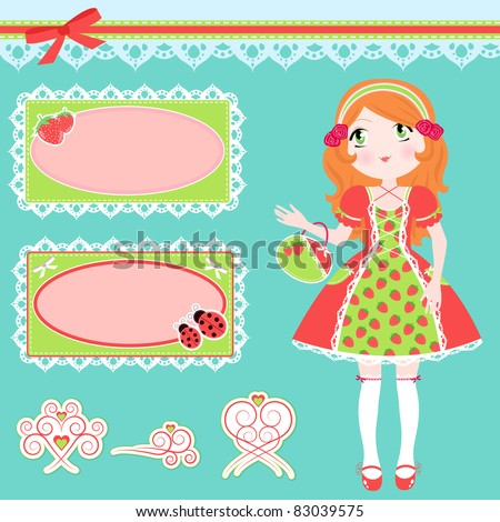 set of girl in strawberry