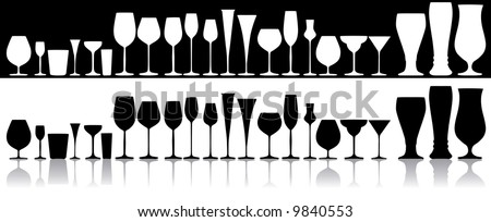 Set of glasses for alcoholic drinks