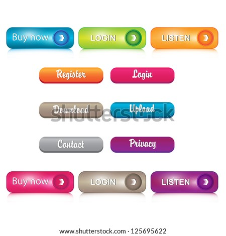 Set of glossy Buttons.