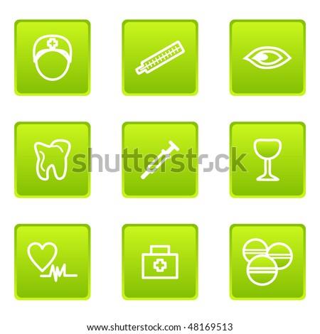 Set of 9 glossy web icons (set 22).