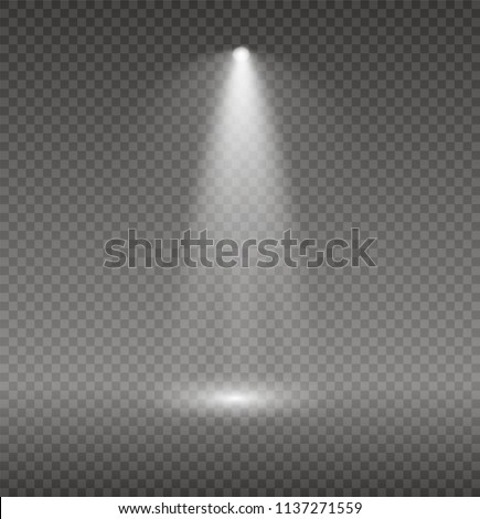 Set of glowing lights effects isolated on transparent background. Sun flash with rays and spotlight. Glow light effect. Star burst with sparkles