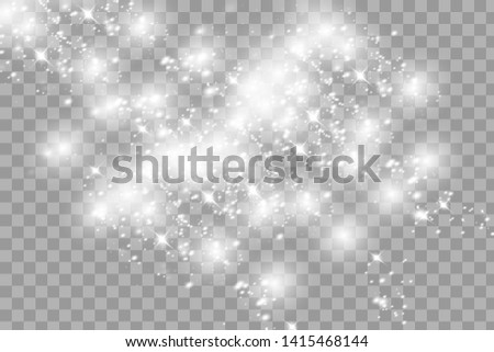 Set of glowing lights effects isolated on transparent background. Sun flash with rays and spotlight. Glow light effect. Star burst with sparkles.