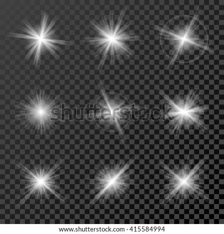 set of glowing lights  stars