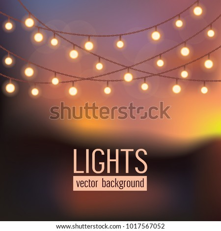 set of glowing string lights on
