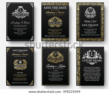set of gold luxury flyer pages...