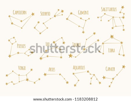 set of golden constellations