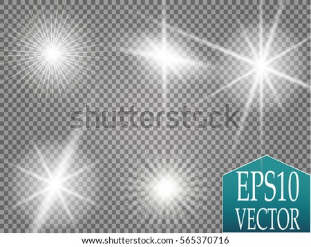 set of golden glowing lights