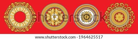 Set of golden italian rosettes Stockfoto ©