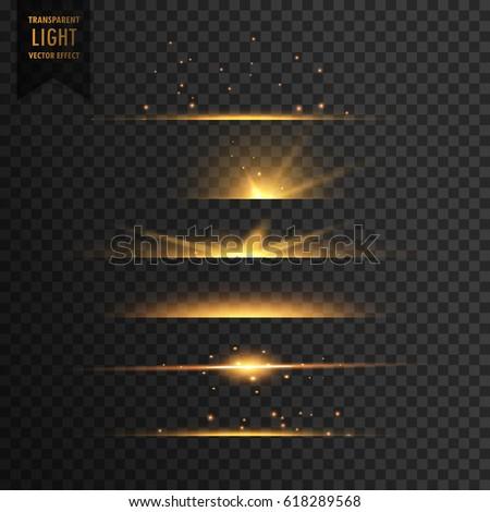 set of golden stars transparent