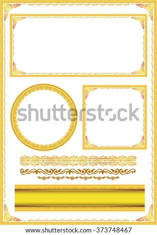 set of gorgeous decorative