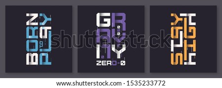 set of graphic modern t shirt
