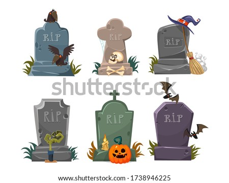 set of gravestones with rest in