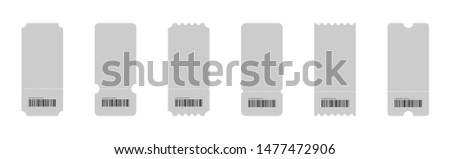 set of gray tickets icons. tickets in flat design. coupons in trendy flat style on white background. coupons vector icons. Eps10