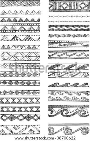 Set of Greek decorations