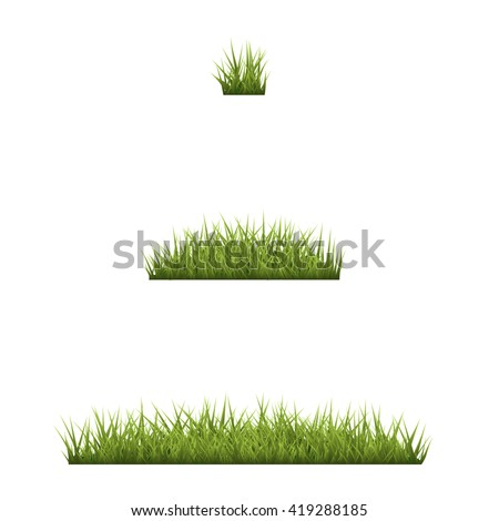 set of green grass green grass
