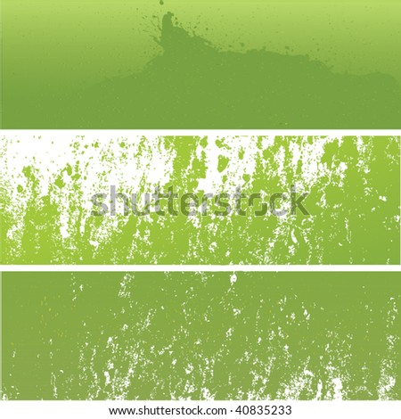 Set of Green Grunge Backgrounds