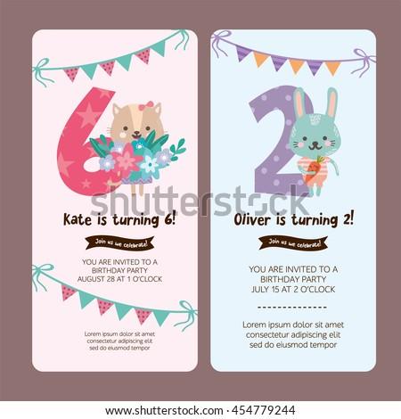 set of greeting card design