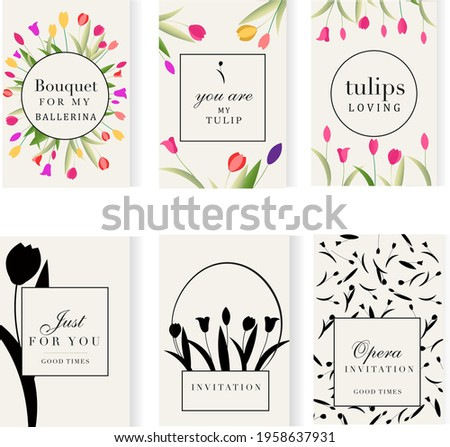 set of 6 greeting card with