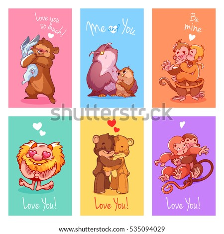 set of greeting cards for