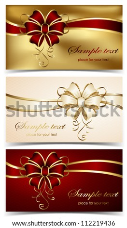 Set of greeting cards, illustration.