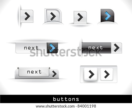Set of grey buttons. Vector eps10  illustration.