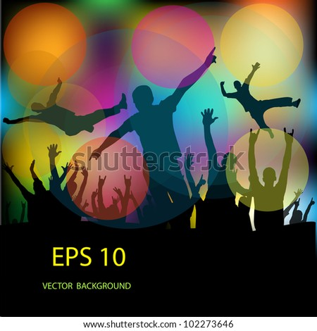 set of group peoples dance vector. - stock vector