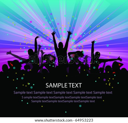 set of group peoples dance vector. flyer