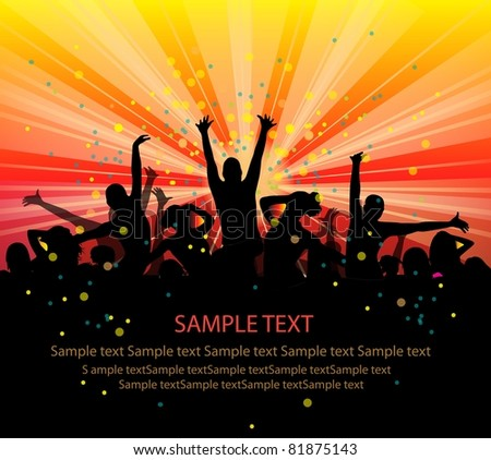 set of group peoples dance vector. flyer.vector