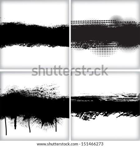 Set of grunge backgrounds #151466273