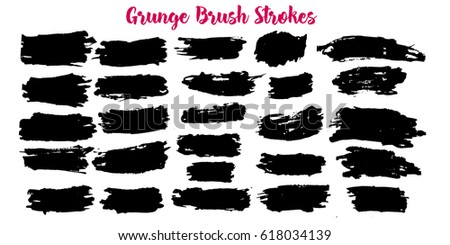 Set of grunge banners. Abstract stain backgrounds. #618034139